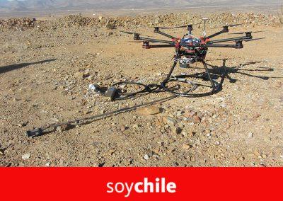Crean un drone para identificar potenciales áreas de mineralización